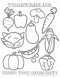 Healthy Vegetables Coloring Page Sheet | Food for Early ...