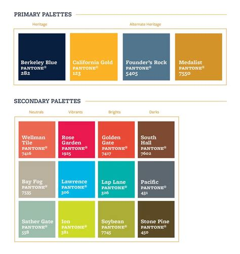 colors uc berkeley brand identity ehm colors color