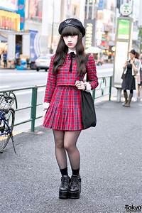19 Year Old Haruka On The Street In Harajuku Wearing A