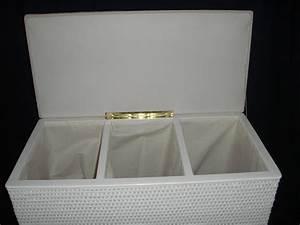 Wäschekorb 3 Teilig : rattan store w schekorb aus rattan dreier sortierer sitzhocker wei ~ Buech-reservation.com Haus und Dekorationen