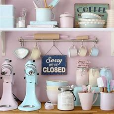 Retro Pastel Kitchen Accessories Pictures, Photos, And