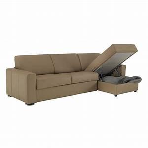 canape lit d39angle reversible en cuir meilleur prix With canape d angle convertible reversible cuir