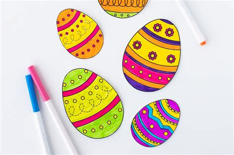 easter egg template   ideas  kids