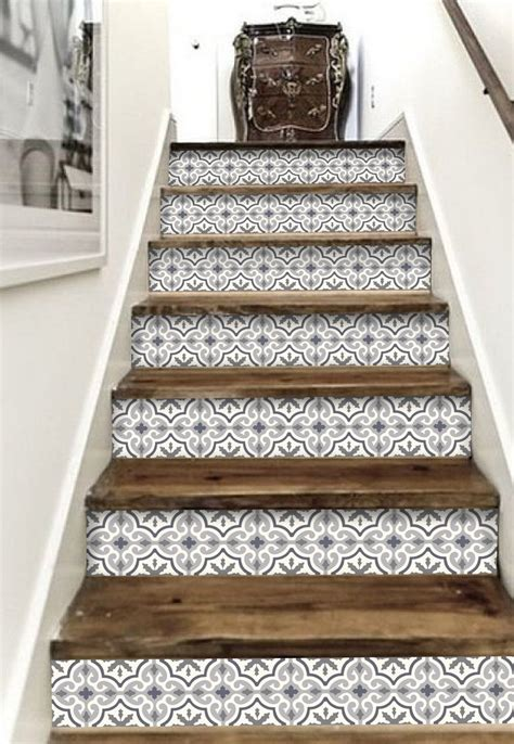 Removable Stair Riser Vinyl Decal by Stair Riser Vinyl Strips 15 Steps Removable Sticker Peel