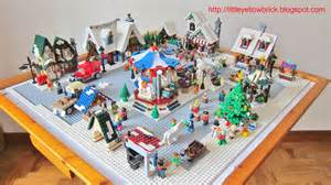 yellow brick a lego our lego winter town moc 10199 winter