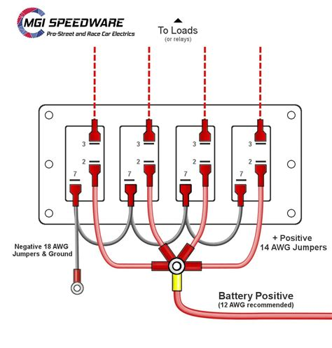 Gang Marine Rocker Switch Panel Mgi Speedware