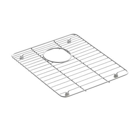 stainless steel sink rack kohler anthem bottom sink basin rack in stainless steel k