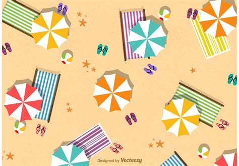 Top Vector Backgrounds by Summer Umbrella Vector Free Vector