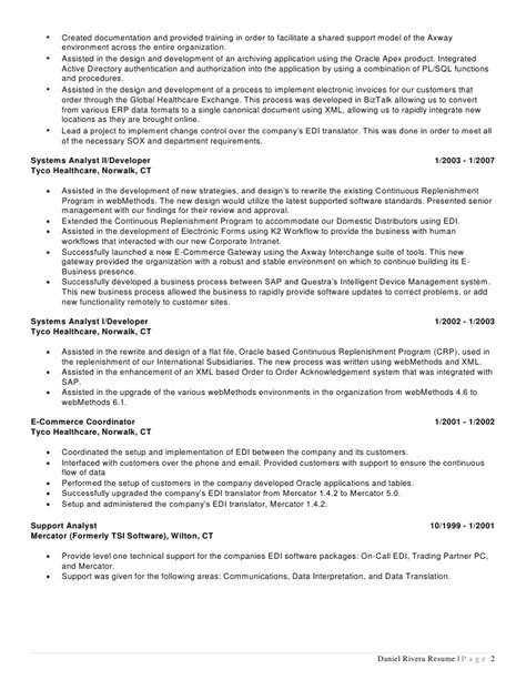sap edi resume 28 images resume sle sap consultant