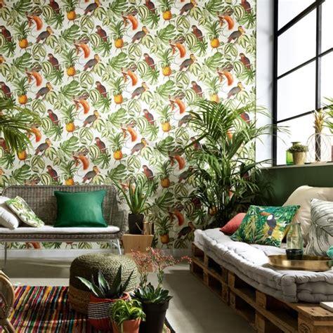 erismann paradiso tropical bird pattern wallpaper jungle