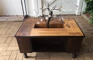 Table Basse Caisse Bois : 7 jolies fa ons de d tourner vos caisses vin depuis mon hamac ~ Nature-et-papiers.com Idées de Décoration