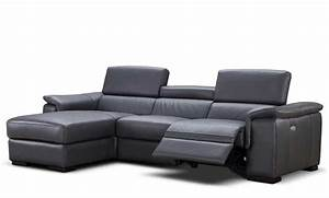 Premium leather sectional sofa with power recliner nj for Leather sectional sofa nj