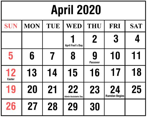 easter calendar calendar