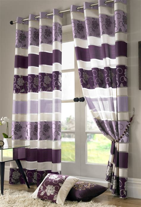 purple and white striped curtains rooms