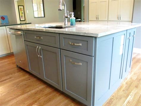 procraft cabinets st louis grey and white shaker contemporary kitchen st louis