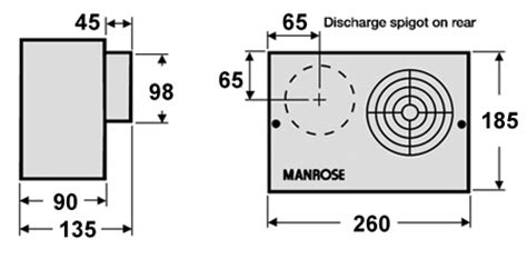 Manrose Cfh White Centrifugal Extractor Fan With