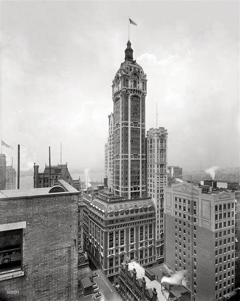 New York Circa 1908 The Singer Building Shortly After