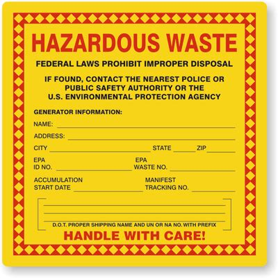 universal waste label template printable label templates
