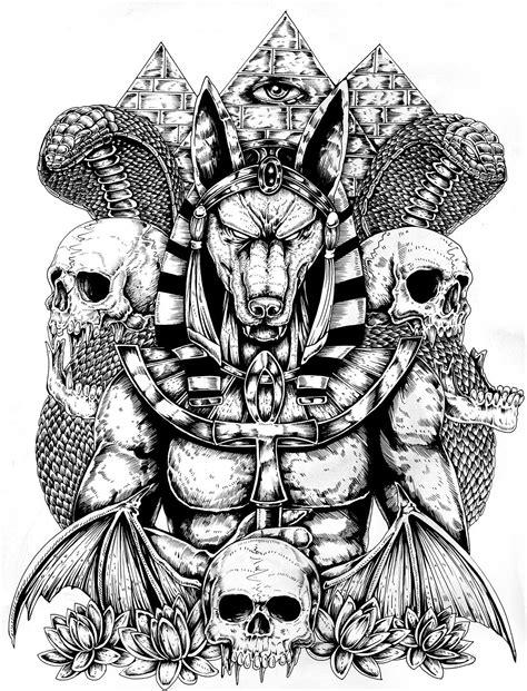 Resultado De Imagen De Anubis Drawing Tattoos