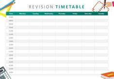 school stickers revision timetable   revision