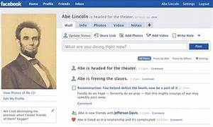 abraham lincoln and facebook templates for learning With historical facebook page template