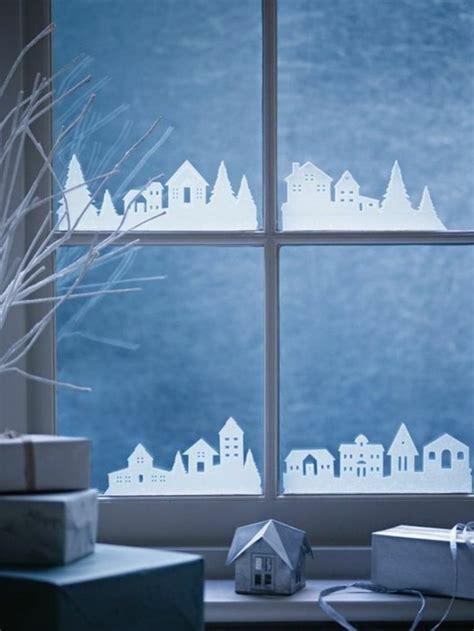 Weihnachtsdeko Fenster Watte by Bezaubernde Winter Fensterdeko Zum Selber Basteln