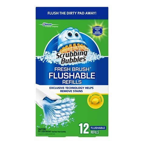 kitchen faucets for less scrubbing bubbles 12 count fresh brush flushable 12