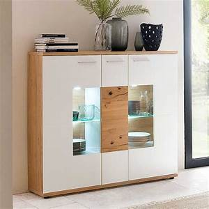 Highboard Weiß Holz : esszimmer highboard croadiva in wei eiche ~ Sanjose-hotels-ca.com Haus und Dekorationen