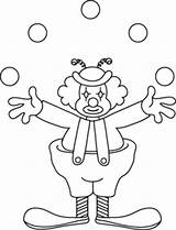 Clown Coloring Clipart Clip Transparent sketch template