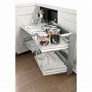 Meuble Angle Cuisine : ferrure d 39 angle smart corner extractible pour meuble bas accessoires cuisines ~ Teatrodelosmanantiales.com Idées de Décoration