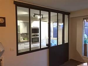 verriere interieure cuisine sejour coulissante With porte d entrée alu avec rampe eclairage miroir salle de bain