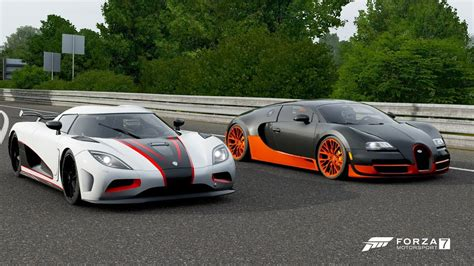 Race koenigsegg agera s vs bugatti veyron 16.4 x 5 races action version multicamera. Forza 7 Drag race: Koenigsegg Agera R vs Bugatti Veyron SS ...