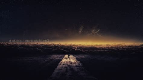 quote road sky clouds stars galaxy fantasy art