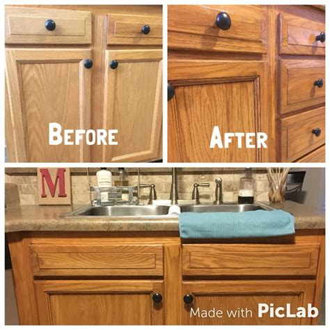 staining kitchen cabinets darker honey oak cabinets restained with genera finishes american 5702