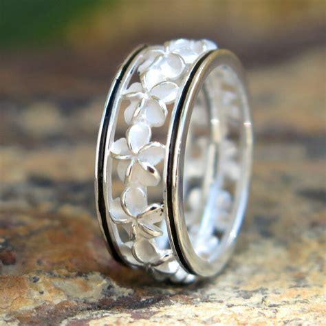 hawaiian wedding ring hawaiian silver black border plumeria flower wedding ring band 6mm sr2191 ebay