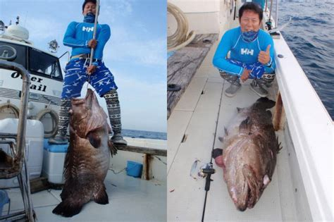 grouper caught 42kg fishing giant ocean jig flash crazy charters