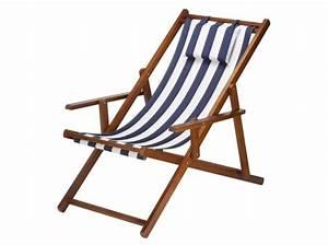 Chaise De Jardin En Bois : chaise longue bois tissu mes prochains voyages ~ Teatrodelosmanantiales.com Idées de Décoration