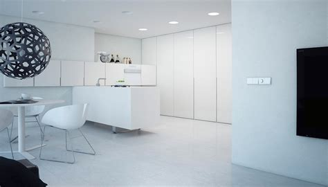 A Minimalist Modern Apartment In White by A Minimalist Modern Apartment In White