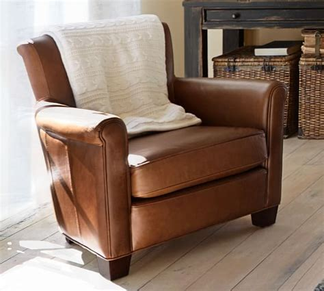 pottery barn leather chair irving leather armchair pottery barn