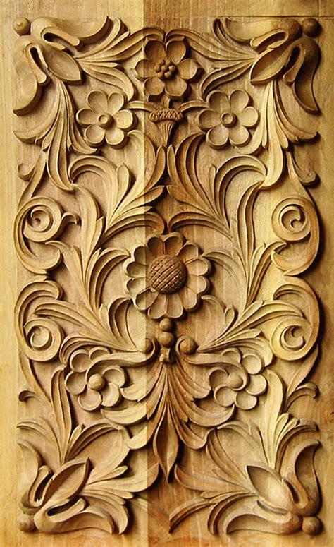 wood carving traditional bulgarian art rectangular panel 2