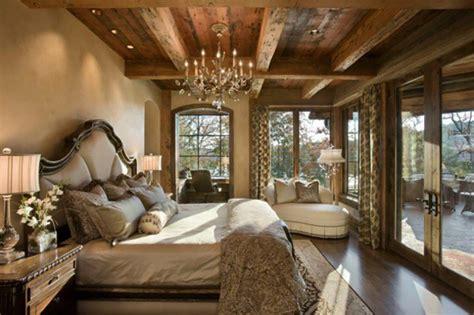 chambre à coucher rustique l esprit montagne reflété dans une chambre rustique