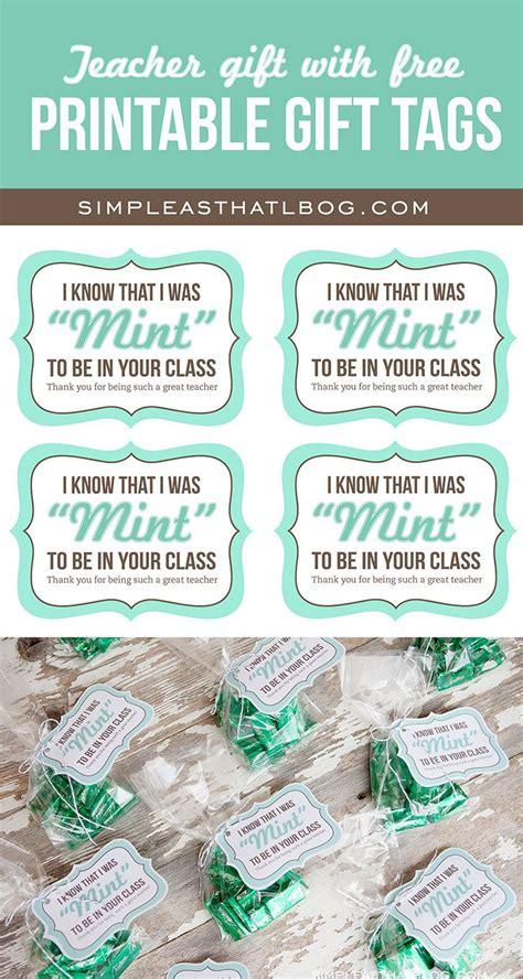 teacher gift idea   printable mint   gift