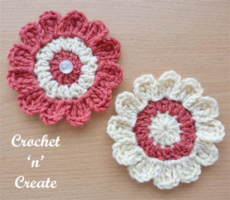 Free Applique by Free Crochet Pattern Flower Applique Crochet N Create