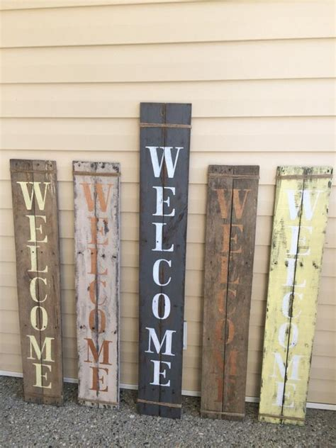 rustic verticle porch  sign pallet wood handpainted