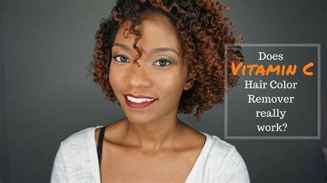 vitamin  remove hair color youtube