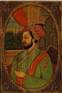 Mughal Portrait Art Antique Look Indian Painting of Shah