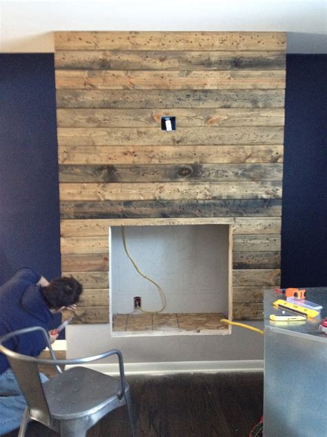 diy faux headboard how to create a diy reclaimed wood fireplace surround for