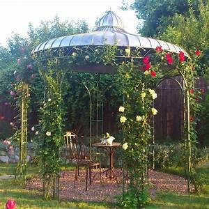 Pavillon Metall Wetterfest : garten pavillon safia aus schmiedeeisen ~ Whattoseeinmadrid.com Haus und Dekorationen