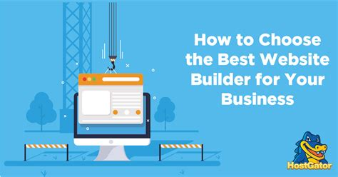 how to choose the best website builder for your business hostgator