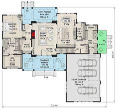 Plan 280023JWD: Beautiful 5 Bed Modern Farmhouse Plan with